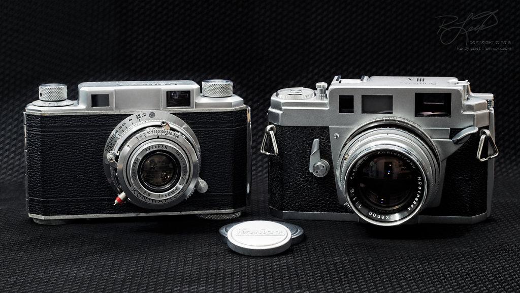 Konica I and Konica IIIA Rangefinder Cameras