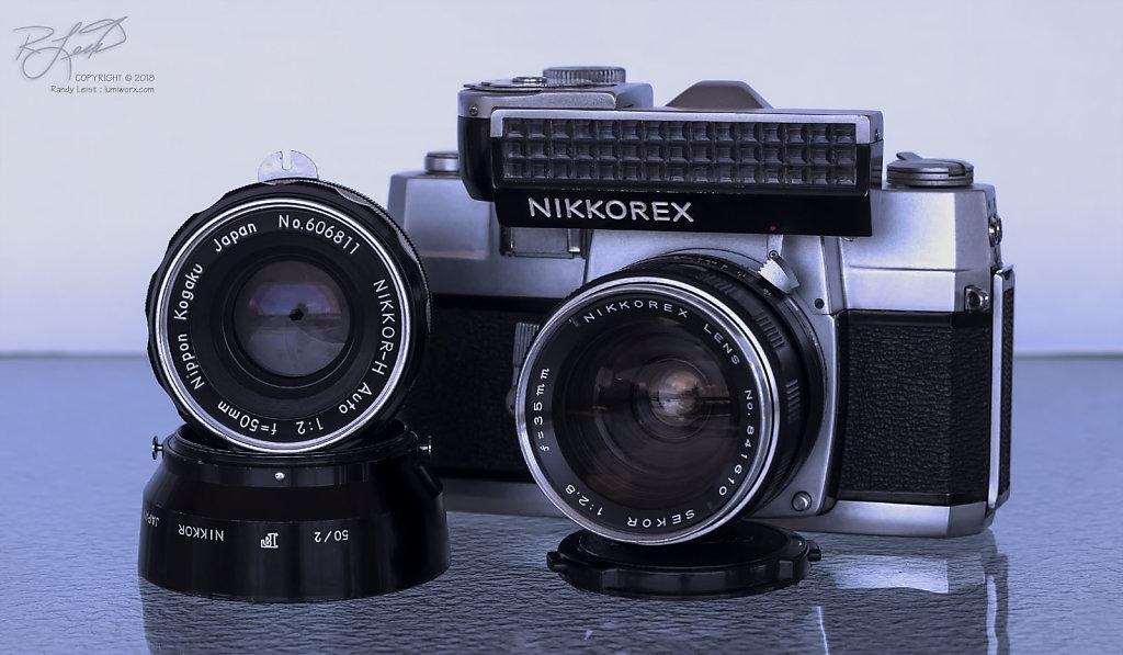 Nikkorex F #2 w/ Sekor Nikkorex 35mm lens [ Zeiss Sonnar T* 85mm/2.8 @ f/8 ]