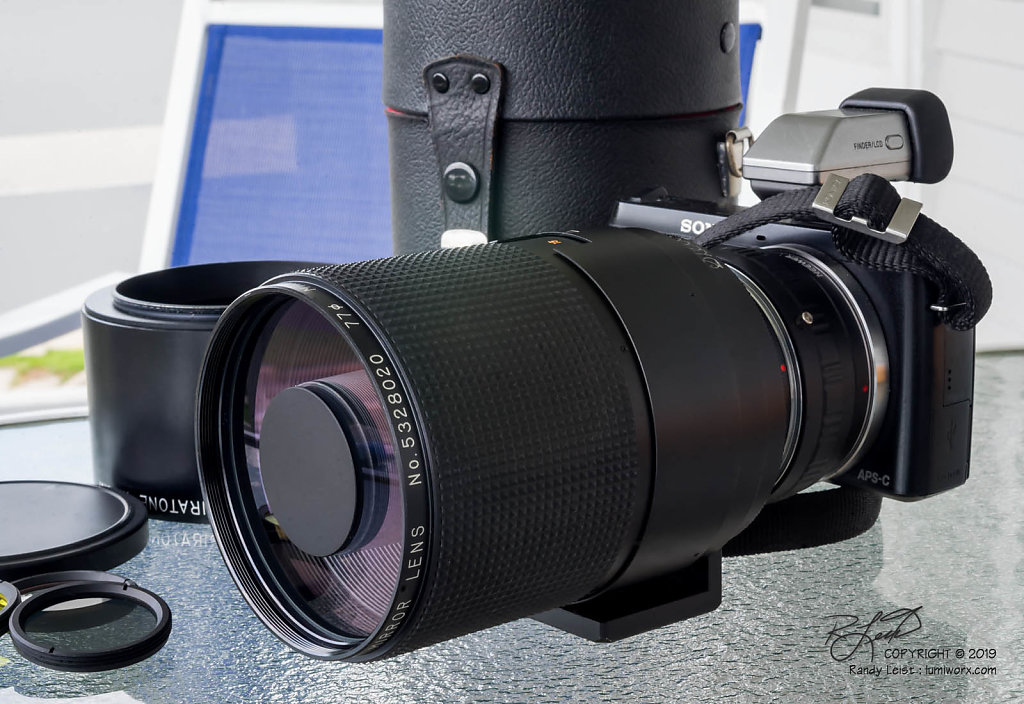 Spiratone 'Tomioka' Minitel 500mm f/8 Mirror