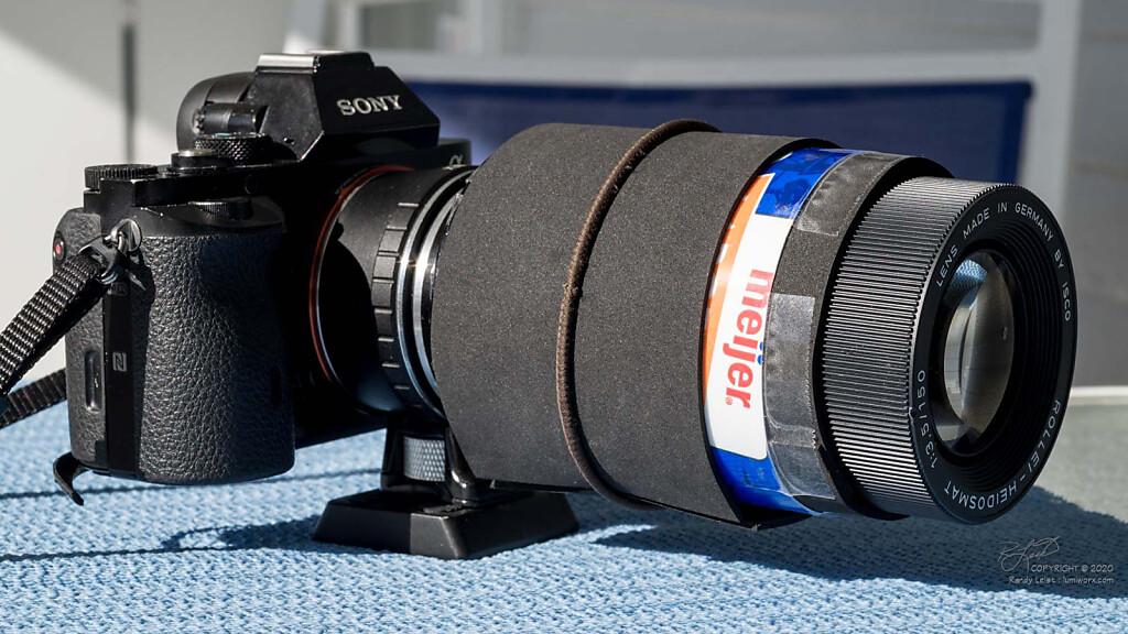 Adapting a Rollei Heidosmat 150mm f/3.5 Projection lens